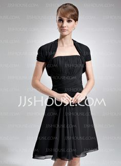 Mother of the Bride Dresses - $99.99 - A-Line/Princess Strapless Knee-Length Chiffon Mother of the Bride Dress With Ruffle (008016750) http://jjshouse.com/A-Line-Princess-Strapless-Knee-Length-Chiffon-Mother-Of-The-Bride-Dress-With-Ruffle-008016750-g16750