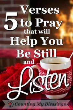 Sometimes when busyness gets in the way it's hard to just be still and listen. #Listen #BeStill