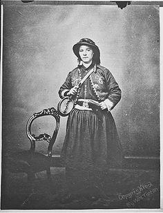 114th Regiment, Collis' Zouaves. Photo of Mary Tepe, vivandiere of the Pennsylvania Civil War Volunteers