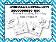 This set includes a template for boys or girls. Just type the child's name in the tiles at the bottom of the pages for each student, then print. Students cut the tiles off the bottom and arrange to spell their name above the picture. You can select and delete tiles to shorten names, or copy/paste tiles to add letters.
