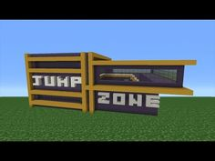Minecraft Tutorial: How To Make A Trampoline Park Part 1/2 - YouTube