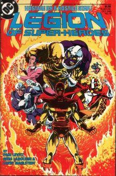 Legion of Super-Heroes #15 (1985), cover, Steve Lightle art, Dr. Regulus, new recruits