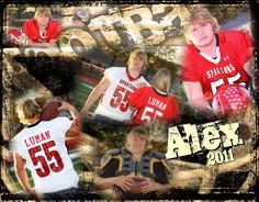 Fun shoot with Alex, on Truman's football field . . . created this collage with my afternoons work!