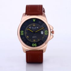 MILER Fashion Army Military Watches Auto Date Sport Watch Men Watch Leather Quartz Watch Hour relogio masculino reloj hombre Like and Share if you agree! Visit our store