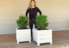 Super easy and inexpensive to make DIY planter boxes! Made primarily with cedar fence pickets, this is a great beginner project and you only need a few basic. Planter Box Plans, Cedar Planter Box, Diy Planter Box, Building Planter Boxes, Kids Woodworking Projects, Wood Projects, Simple Projects, Woodworking Crafts, Woodworking Plans