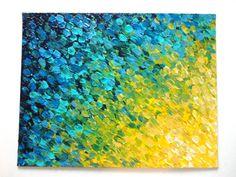 ORIGINAL Acrylic Painting 11 x 14 Color Rapid FREE by EbiEmporium, $94.00