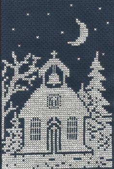 Church cross stitch.