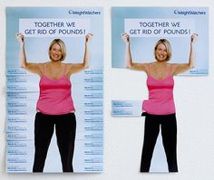 Super creative tear-off ad for weight watchers.  More on the blog post.