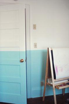 half painted room.