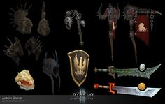 ArtStation - Armors, Items, and Weapons. , Aaron Gaines