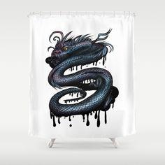 Dragon Swirl Shower Curtain