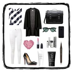 """style#47"" by titalmeida ❤ liked on Polyvore featuring Oscar de la Renta, Frame Denim, Christian Louboutin, Dr. Martens, Ray-Ban, NARS Cosmetics, Bobbi Brown Cosmetics and Marc Jacobs"
