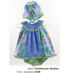 K3689, Dresses, Bloomers & Hat