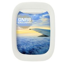 airplane window picture frame