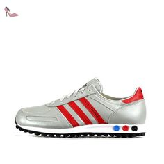 adidas , Basses homme - blanc - silver red black AQ4568, 40 EU - Chaussures adidas (*Partner-Link)