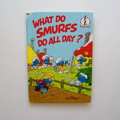 Vintage Smurf Book What Do Smurfs Do All by MyForgottenTreasures, $5.00