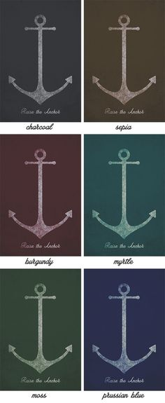 Free Art Download: 16″x20″ Anchor Printable Available in 6 Colors & Without Text - Primer