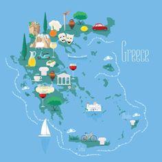Image result for greek islands decorative map