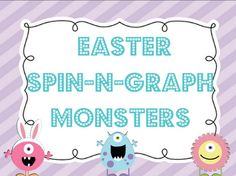 FREE Easter Spin N Graph Math Station