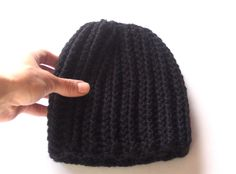 All black wool beanie $42 https://www.etsy.com/listing/206955717/just-black-crocheted-knitted-style