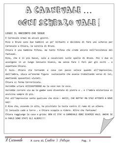 Percorso didattico - Carnevale | PDF to Flipbook Carnival Crafts, Italian Language, Teaching Tools, Coding, Education, Kandinsky, Alphabet, Winter Time, Languages