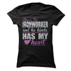 Ironworker Has My Heart - #unique hoodie #wool sweater. SIMILAR ITEMS => https://www.sunfrog.com/Funny/Awesome-Ironworker-Shirt-27061797-Guys.html?68278