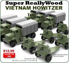 Super ReallyWood Vietnam Howitzer Wood Toy Plan Set