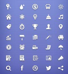 35+ White Web Page Icons PSD