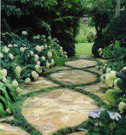 Une allée de jardin rétro - Marie Claire Maison