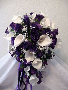 Purple Cala Lilly bouquet