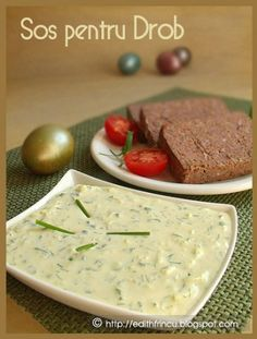 sos pentru drob Edith's Kitchen, Baby Food Recipes, Cooking Recipes, Romanian Food, Romanian Recipes, Vinaigrette Dressing, I Want To Eat, Tzatziki, Cooking Time