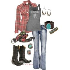 country Polyvore Outfits    Cowgirl western sexy look by Sacagawea
