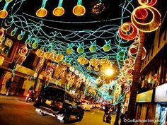 #Colombia. ¡Medellin se pinta de color con luces durante las celebraciones navideñas!