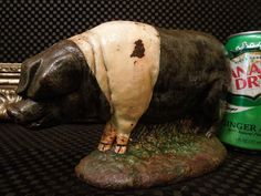 OINK! Rare Antique Hog Pig Sow Farm Doorstop Cast Iron American Foundry Vintage #Americana #Unknown