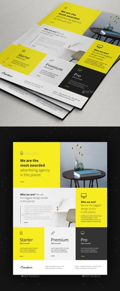 2019 Printable Flyer Templates & Examples in January. Edit Flyer with Adobe Photoshop Basic Version. One Pager Design, Flugblatt Design, Cover Design, Layout Design, Graphic Design Flyer, Design Brochure, Brochure Layout, Invoice Design, Invoice Template