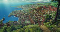 Tales from Earthsea [ゲド戦記 Gedo Senki] (Gorō Miyazaki, Environment Concept Art, Environment Design, Hayao Miyazaki, Animation Background, Art Background, Nausicaa, Tales From Earthsea, Netflix, Film D'animation