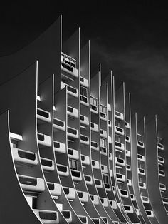 "La Baule - ""The building wave"" : Built in the 70's on the waterfront, Pornichet, France #Brutalist #architecture"