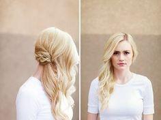sideswept bridal hair - love the braid underneath! ~  we ❤ this! moncheribridals.com