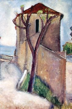 Tree and House, by Amedeo Modigliani