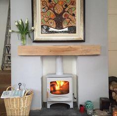 Oak Fire Place Beam - handmade at Celtic Oak - Penclawdd Log Burner Living Room, Fireplace Beam, Range Cooker, Gas Fires, Ceiling Beams, Solid Oak, Wood Burning, Stove, Celtic