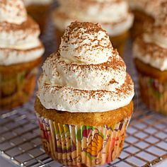 Tiramisu cupcakes that taste just like one of my favorite Italian desserts!