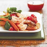 Saucy Shrimp and Veggies