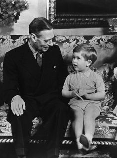 Prince Charles with his grandfather King George VI