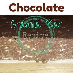 This is a super easy chocolate granola bar recipe. Store bought bars are just not the same. You may already have most of them in the pantry!