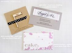 Snippet and Ink business card  cake business card business-branding-and-identity lovable-food