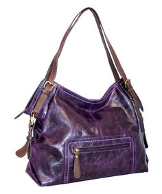 Look what I found on #zulily! Violet Big Is Beautiful Leather Tote by Nino Bossi Handbags #zulilyfinds