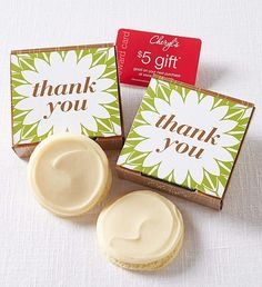 Gluten Free Thank You Cookie Card | Gluten Free Cookies | Cheryls.com | Send a sweet thank you with our buttercream frosted gluten free sugar cookie tucked inside a cheerful gift box.