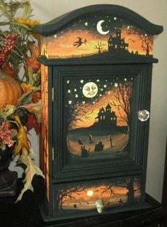 Love this!  ~Original Folk Art Vintage Cupboard- artist Misty Murray-Walkup