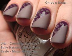 Polka dots and matte grey #nailart