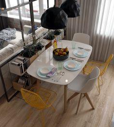 Kitchen-living room on Behance Kitchen Design Small, Living Room Kitchen, Open Space Living Room, Modern Kitchen, Interior, House Interior, Room, Apartment Kitchen, Apartment Interior